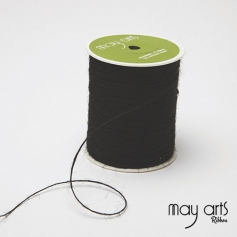 May Arts Jute Burlap String Cord Ribbon Black