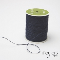 May Arts Jute Burlap String Cord Ribbon Navy