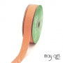 May Arts Twill Chevron Stripe Ribbon with Woven Edge Orange