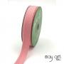 May Arts Twill Chevron Stripe Ribbon with Woven Edge Pink