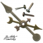 Tim Holtz Idea-ology Metal Game Spinners with Brads color Antique Nickel