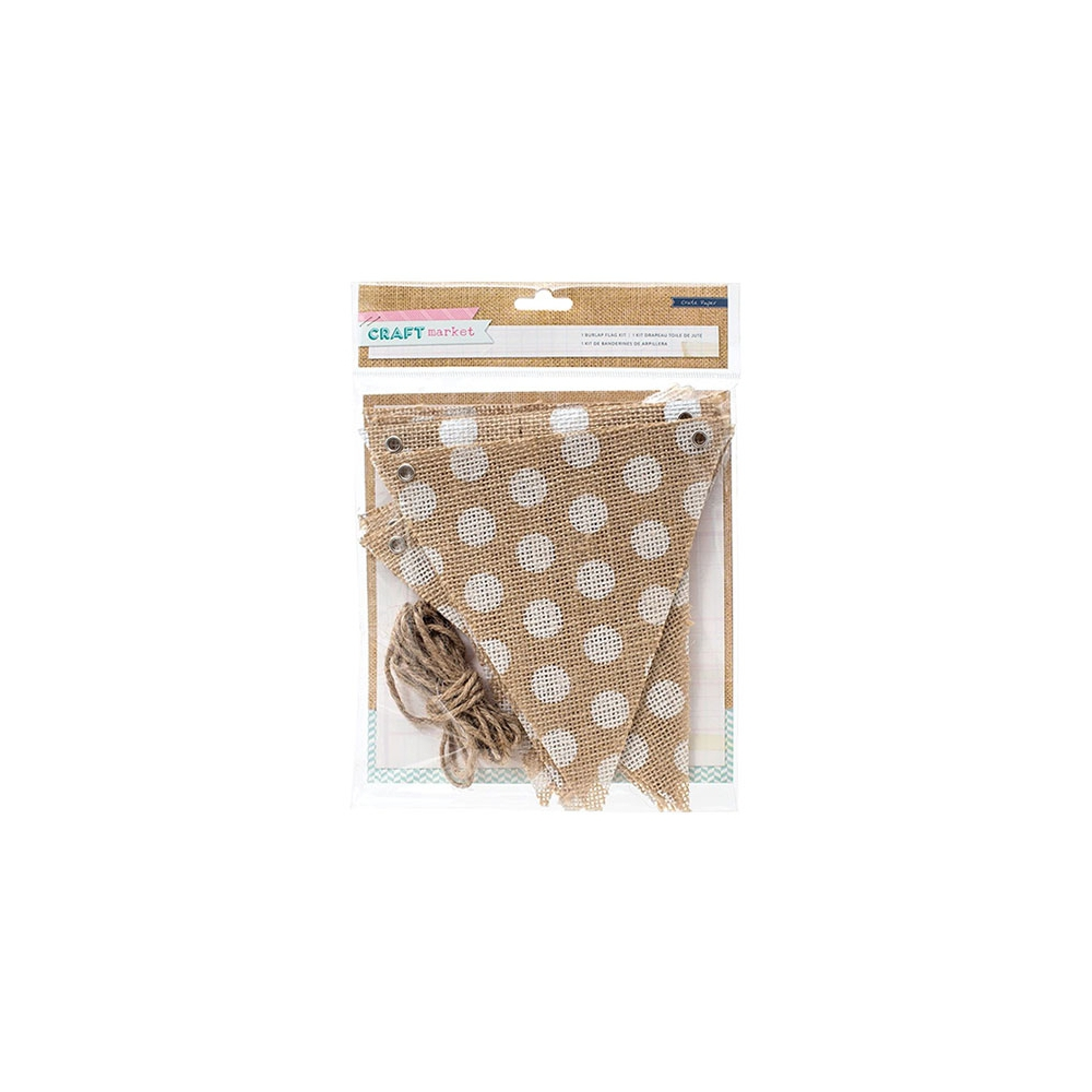 Crate Paper Burlap Flag Kit Craft Market Collection