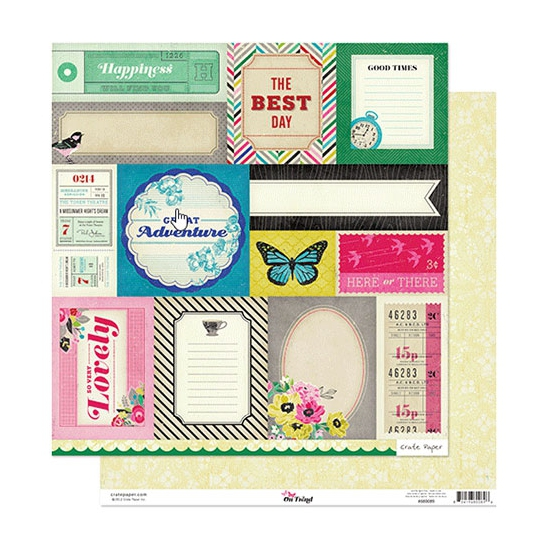 Crate Paper Paper Sheet Accent Cuts On Trend Collection