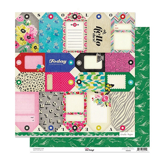 Crate Paper Paper Sheet Tag Cuts On Trend Collection
