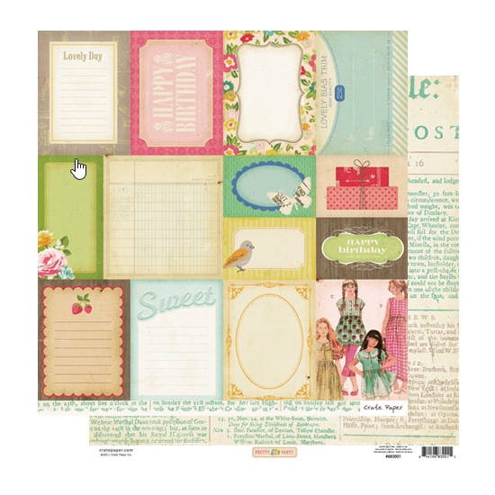 Crate Paper Paper Sheet Accent Cuts Pretty Party Collection