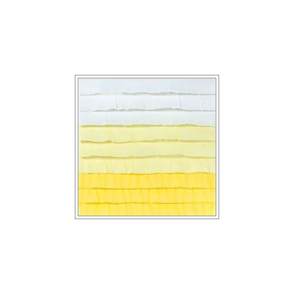 """Dear Lizzy Neapolitan Stitched Ruffle Crepe Paper 12/""""X12/""""-Endless Summer Yellow"""