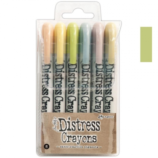Ranger Tim Holtz set no. 8 Distress Crayon Scattered Straw