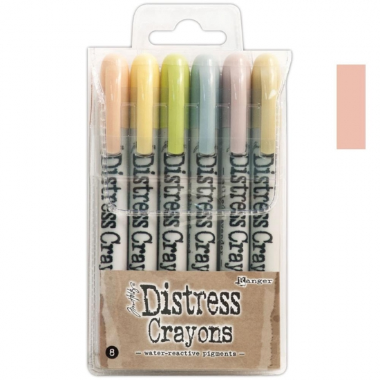 Ranger Tim Holtz set no. 8 Distress Crayon Tattered Rose