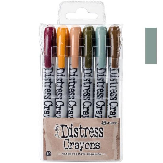 Ranger Tim Holtz set no. 10 Distress Crayon Iced Spruce