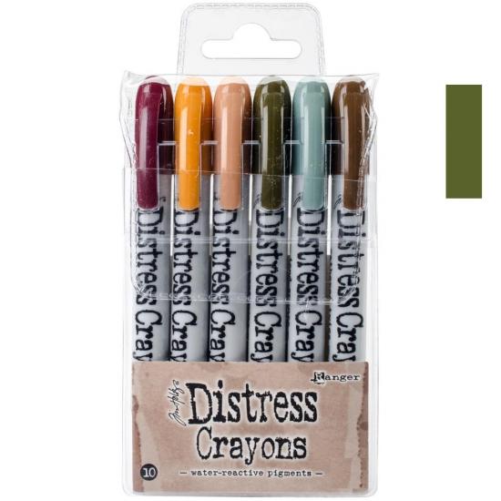 Ranger Tim Holtz set no. 10 Distress Crayon Forest Moss