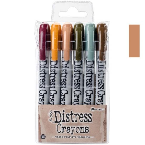Ranger Tim Holtz set no. 10 Distress Crayon Tea Dye