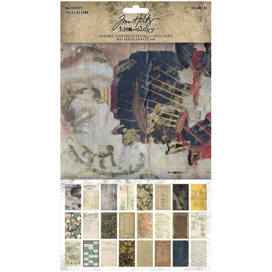 Advantus Idea-ology Backdrops Volume 2 Double-Sided Cardstock Sheets 6 x 10 inch by Tim Holtz