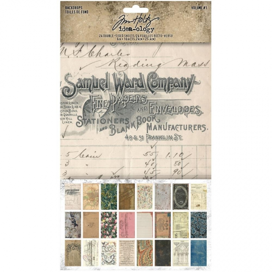 Advantus Idea-ology Backdrops Volume 1 Double-Sided Cardstock Sheets 6 x 10 inch by Tim Holtz