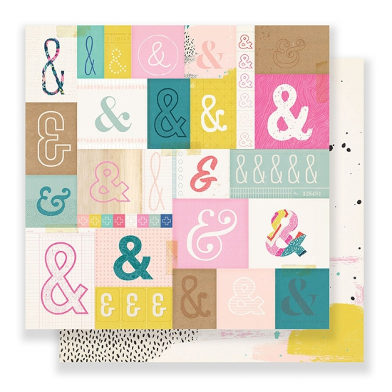 Crate Paper Paper Sheet 12 x 12 inch Serious Fun Good Vibes Collection