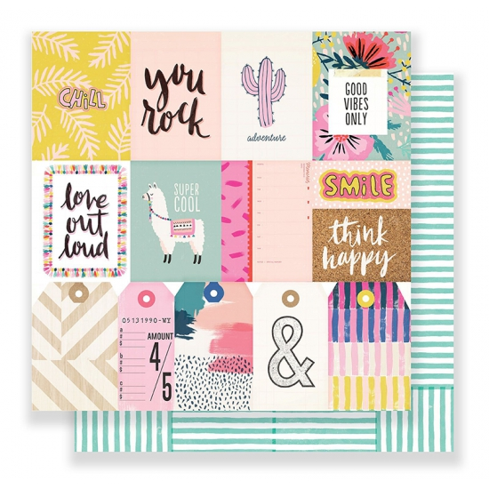 Crate Paper Paper Sheet 12 x 12 inch So Chill Good Vibes Collection