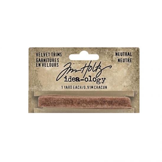 Advantus Idea-ology Velvet Trim Brown Sugar Neutral by Tim Holtz