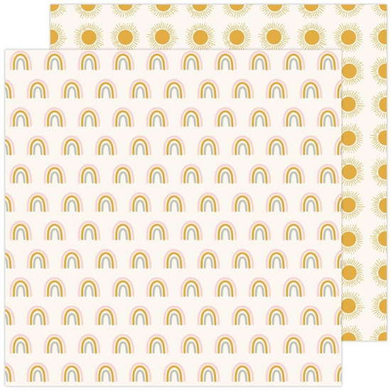Pebbles Double-Sided Cardstock sheet 12x12 inch Look Up Peaceful Heart Collection by Jen Hadfield