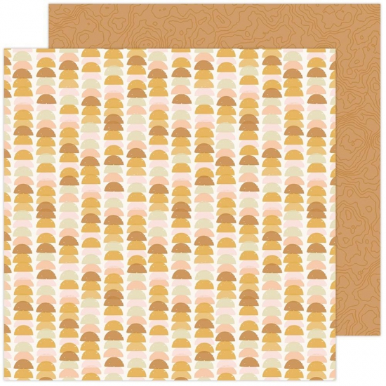 Pebbles Double-Sided Cardstock sheet 12x12 inch Balanced Peaceful Heart Collection by Jen Hadfield