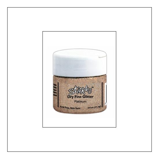 Ranger Stickles Dry Fine Glitter Platinum