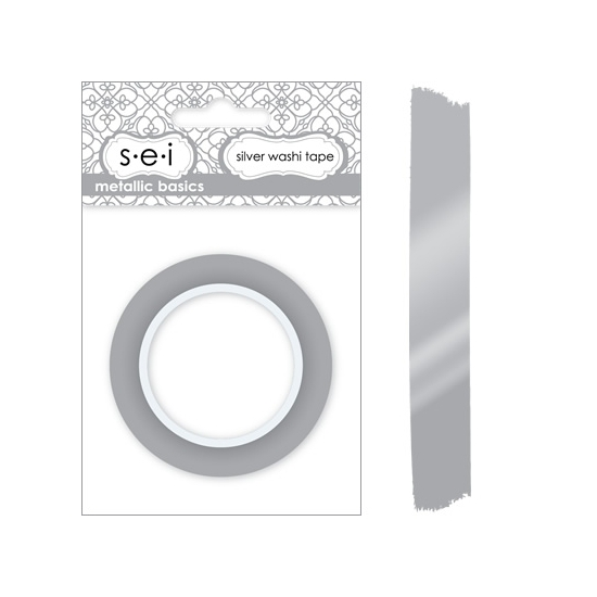 SEI Washi Tape Silver Metallic Basics Collection