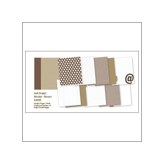 Simple Stories Album Binder 6x8 Brown Snap Studio Collection
