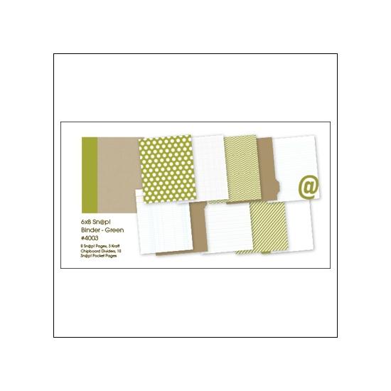 Simple Stories Album Binder 6x8 Green Snap Studio Collection