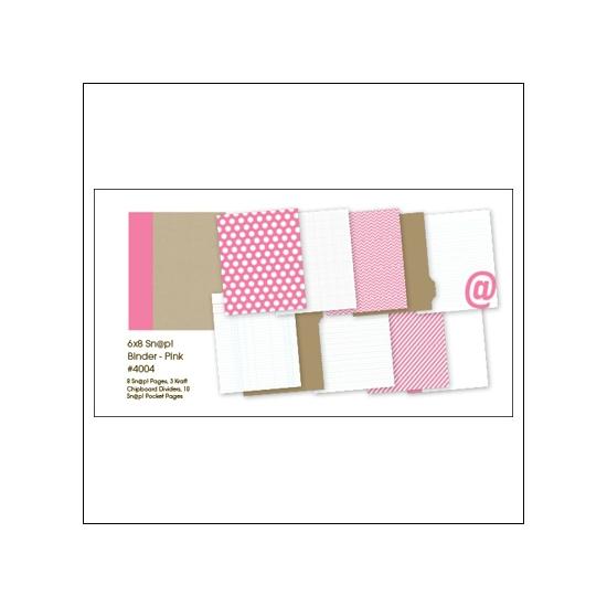 Simple Stories Album Binder 6x8 Pink Snap Studio Collection