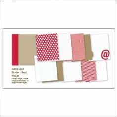 Simple Stories Album Binder 6x8 Red Snap Studio Collection