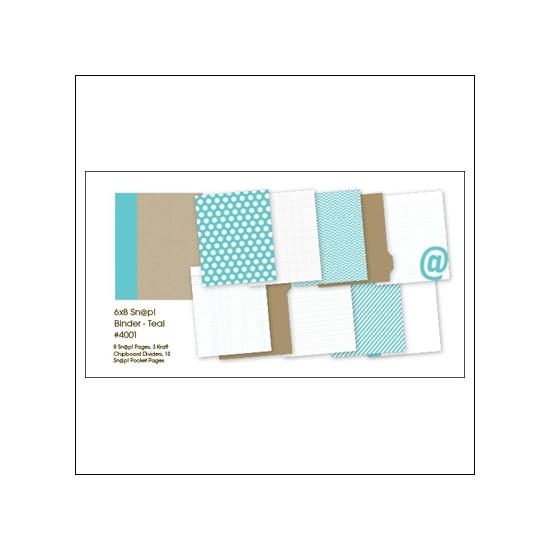 Simple Stories Album Binder 6x8 Teal Snap Studio Collection