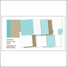 Simple Stories Album Binder 6x8 Teal Snap Studio Collection