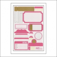 Simple Stories Label Stickers Pink Snap Studio Collection