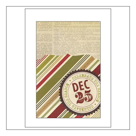 Simple Stories Memorabilia Pocket 4x6 Christmas