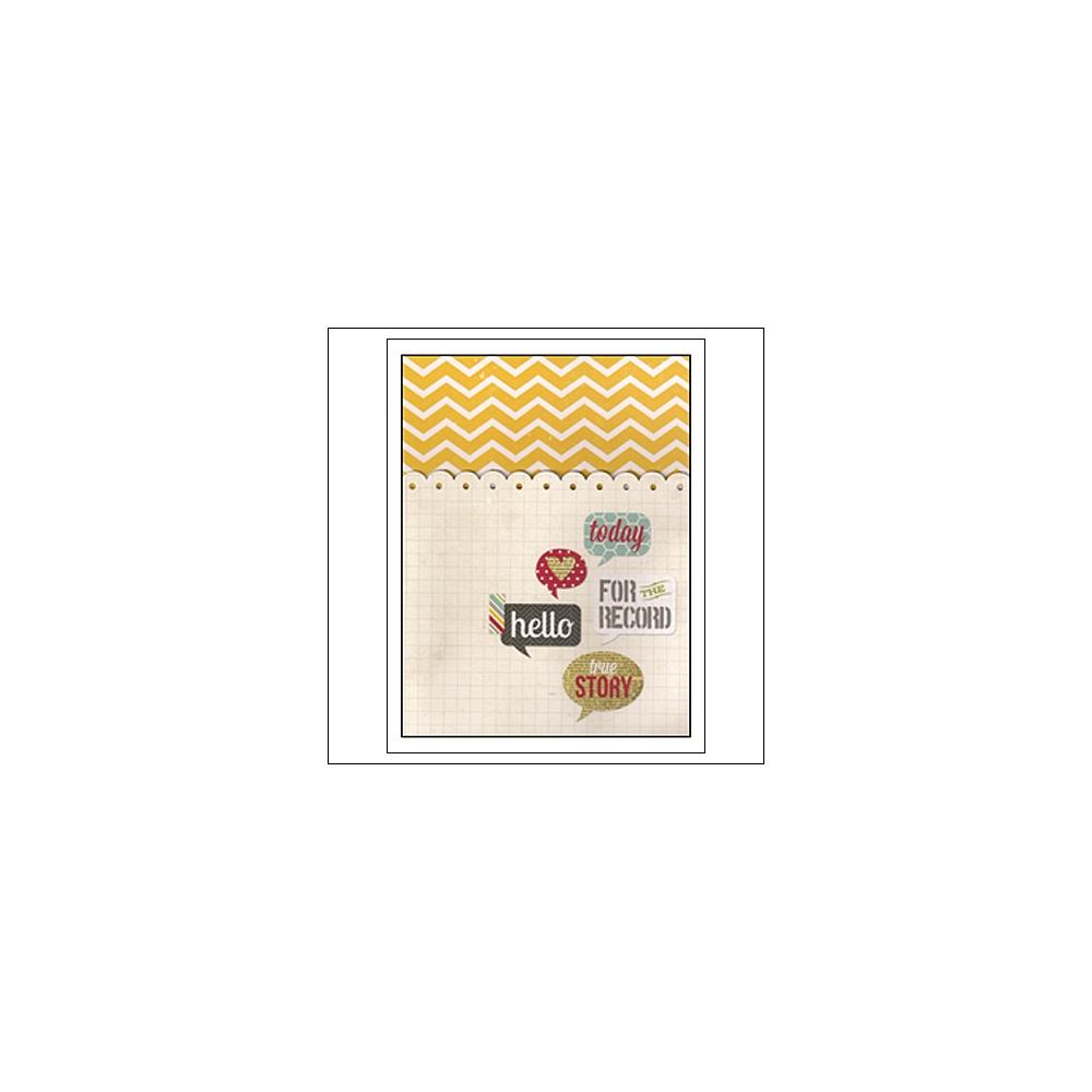 Simple Stories Memorabilia Pocket 6x8 24 Seven Collection