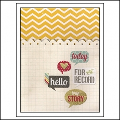 Simple Stories Memorabilia Pocket 6x8 24 Seven Collection