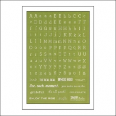 Simple Stories Typeset Stickers Green Snap Studio Collection