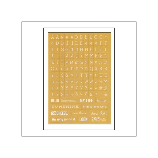 Simple Stories Typeset Stickers Yellow Snap Studio Collection