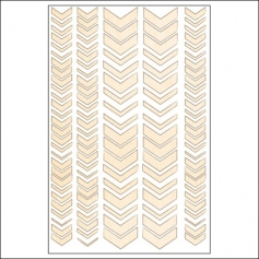 Studio Calico Wood Veneer Chevron Snippets Collection