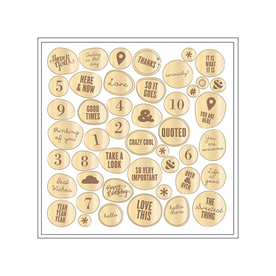 Studio Calico Wood Veneer Phrases Sundrifter Collection