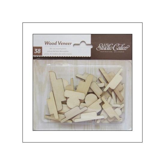 Studio Calico Wood Veneer Tabs Wonderland Collection