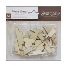 Studio Calico Wood Veneer Tabs Wonderland Collection