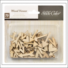 Studio Calico Wood Veneer Hearts and Arrows Classic Calico Vol 2 Collection