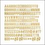 Studio Calico Wood Veneer Alphabet Darling Dear Collection