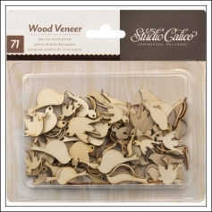Studio Calico Wood Veneer Birds Take Note Collection