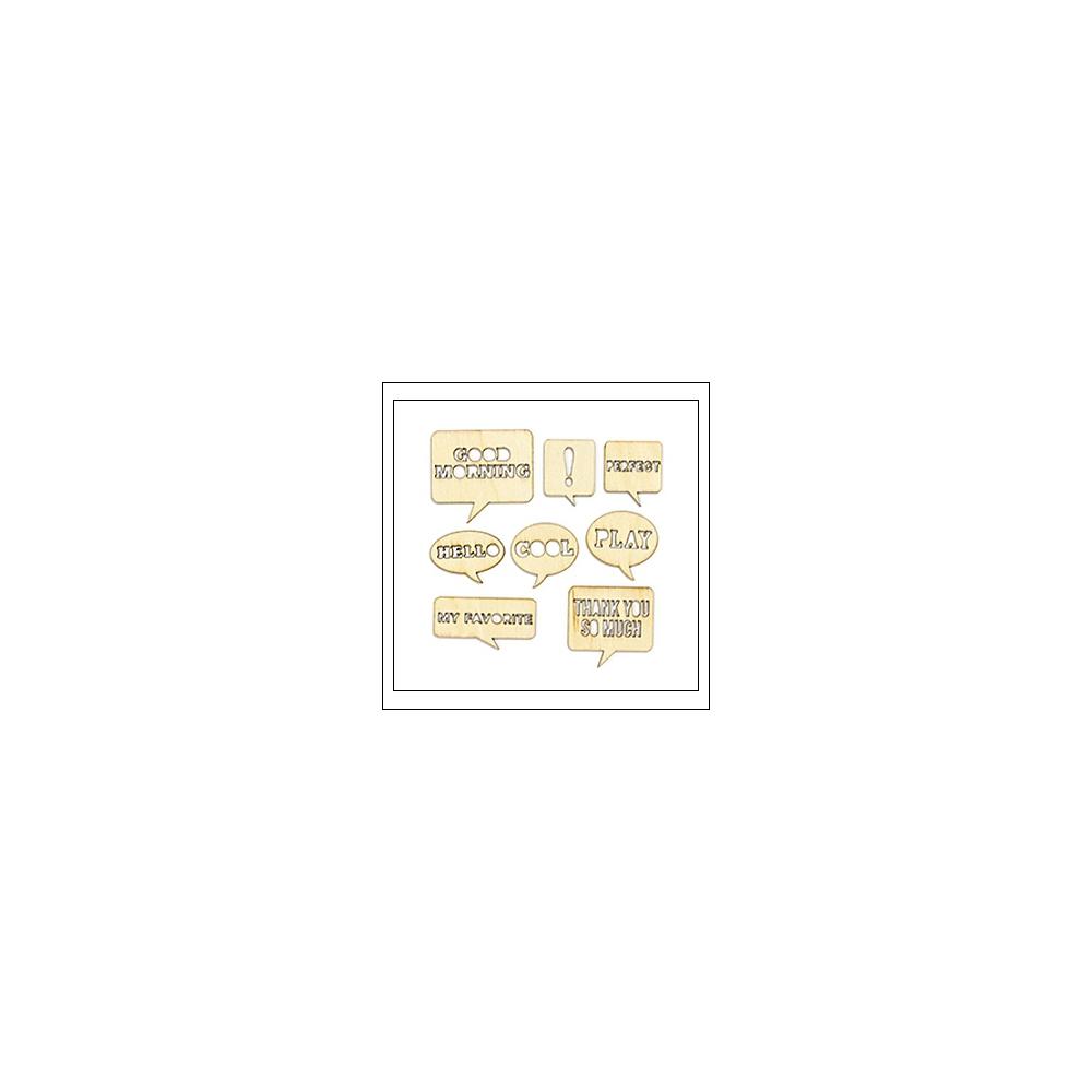 Studio Calico Wood Veneer Speech Bubbles Yearbook Collection