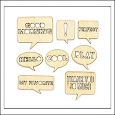 Studio Calico Wood Veneer Speech Bubbles Yearbook Collection