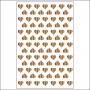 Studio Calico Wood Veneer Burnished Tiny Hearts Atlantic Collection