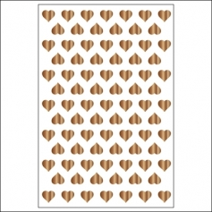Studio Calico Wood Veneer Burnished Tiny Hearts Atlantic Collection