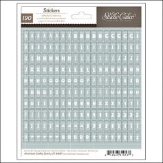 Studio Calico Mini Alphabet Sticker Sheet Take Note Collection