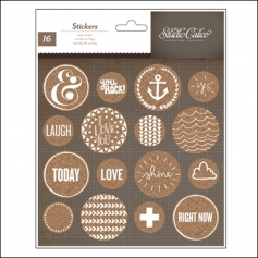Studio Calico Cork Stickers Circles Atlantic Collection
