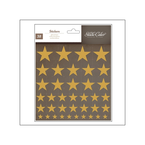 Studio Calico Glitter Star Stickers Atlantic Collection